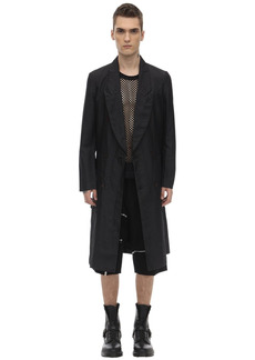 Comme des Garçons Double Breasted Tech Twill Coat
