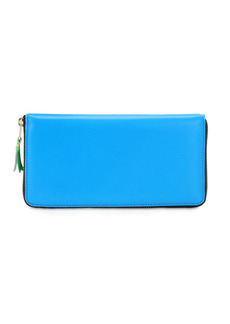Comme des Garçons Super Fluo Leather Zip Around Wallet