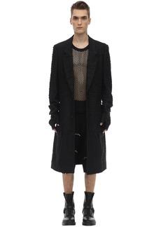 Comme des Garçons Wool Lamè Coat W/ Non-detachable Gloves