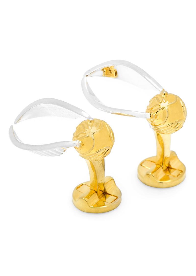 Cufflinks Inc. Cufflinks, Inc. 3D Golden Snitch Cuff Links