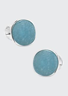 Cufflinks Inc. Aquamarine Jade & Sterling Silver Cufflinks