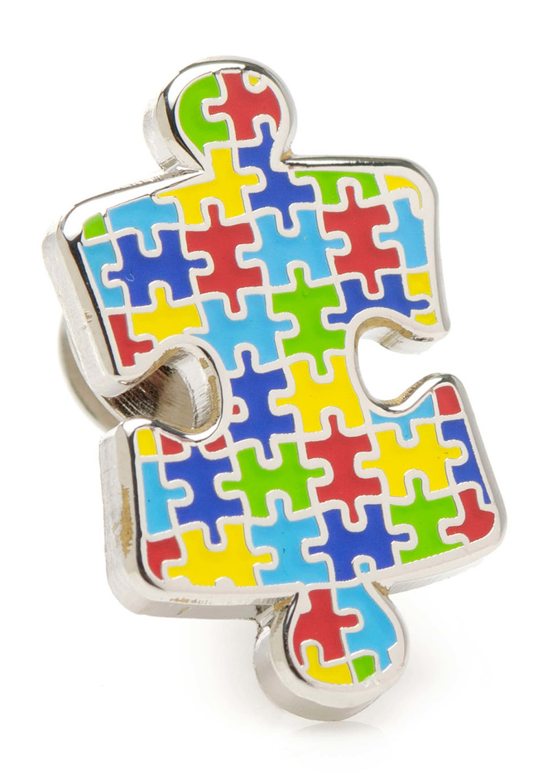 Cufflinks Inc. Cufflinks, Inc. Autism Awareness Puzzle Lapel Pin