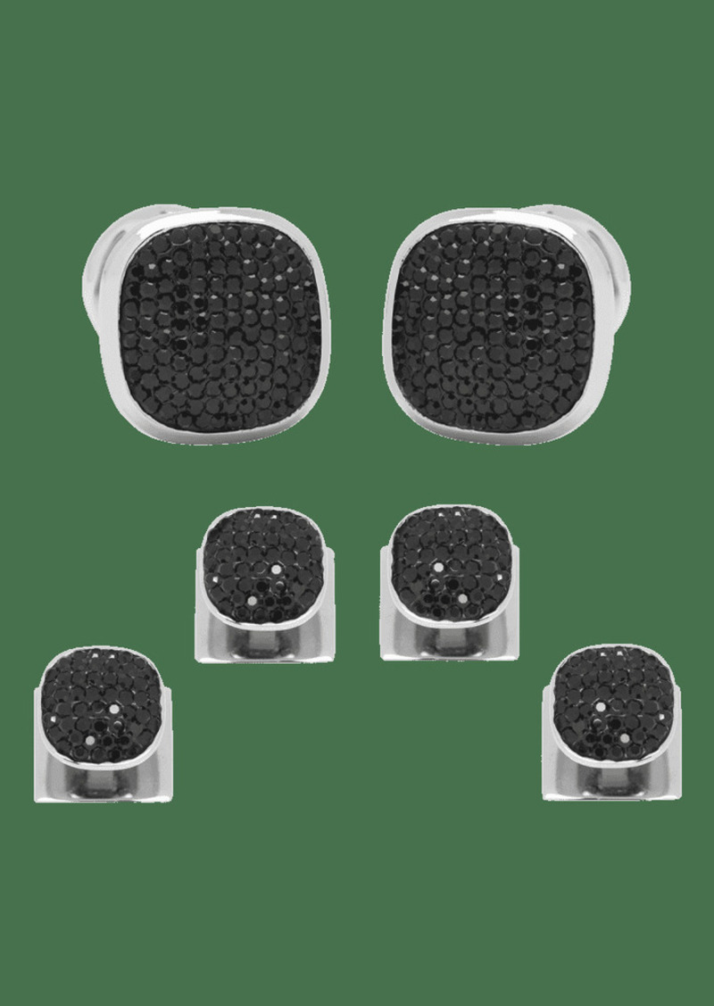 Cufflinks Inc. Black Preciosa Pave Cuff Links %26 Stud Set