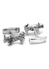 Cufflinks Inc. Cufflinks, Inc. Bull Sterling Silver Cuff Links