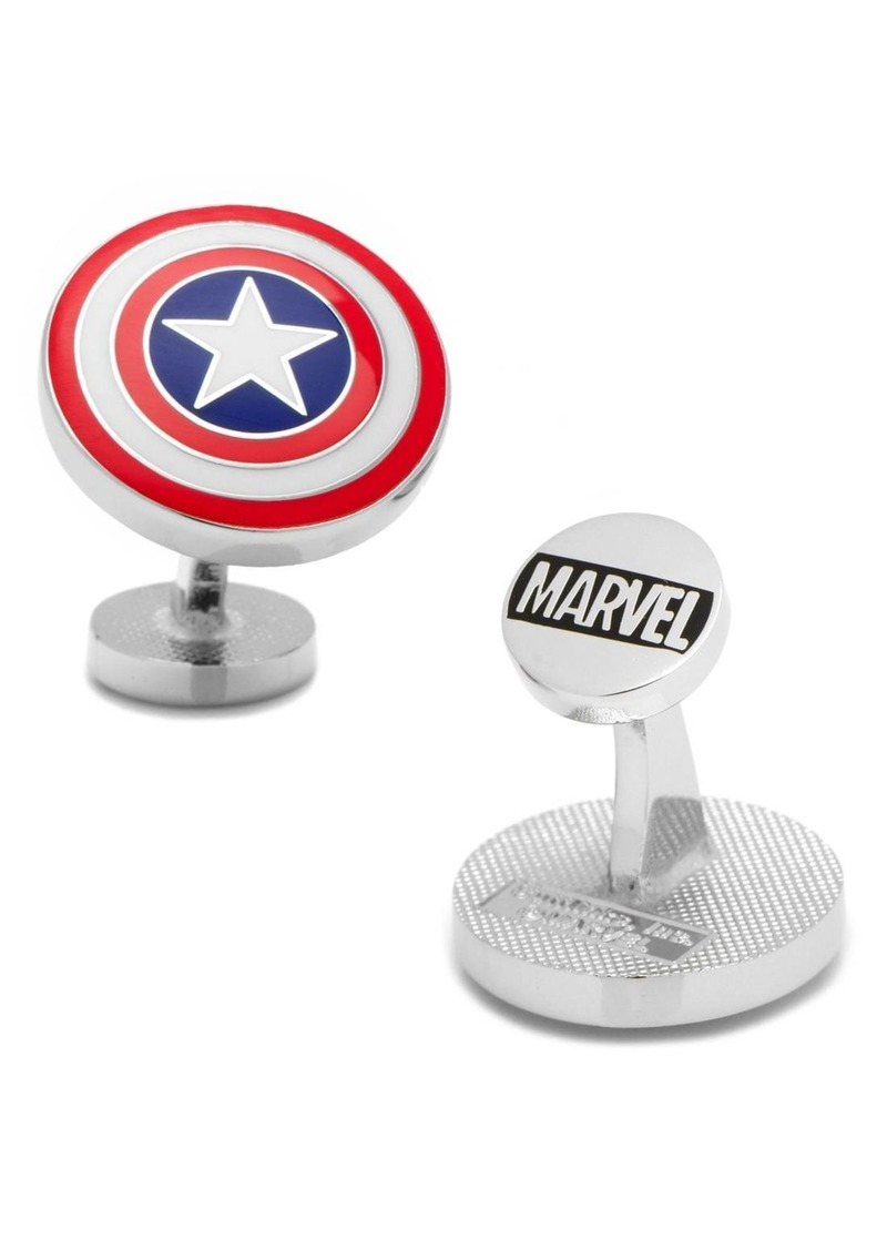 Cufflinks Inc. Cufflinks, Inc. 'Captain America Shield' Cuff Links