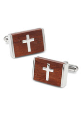 Cufflinks Inc. Cufflinks, Inc. Cross Wood & Stainless Steel Cuff Links