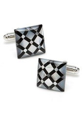 Cufflinks Inc. Cufflinks, Inc. Diamond Pattern Inlay Cuff Links