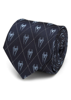 Cufflinks Inc. Cufflinks, Inc. Marvel Spider-Man Diamond Navy Silk Tie