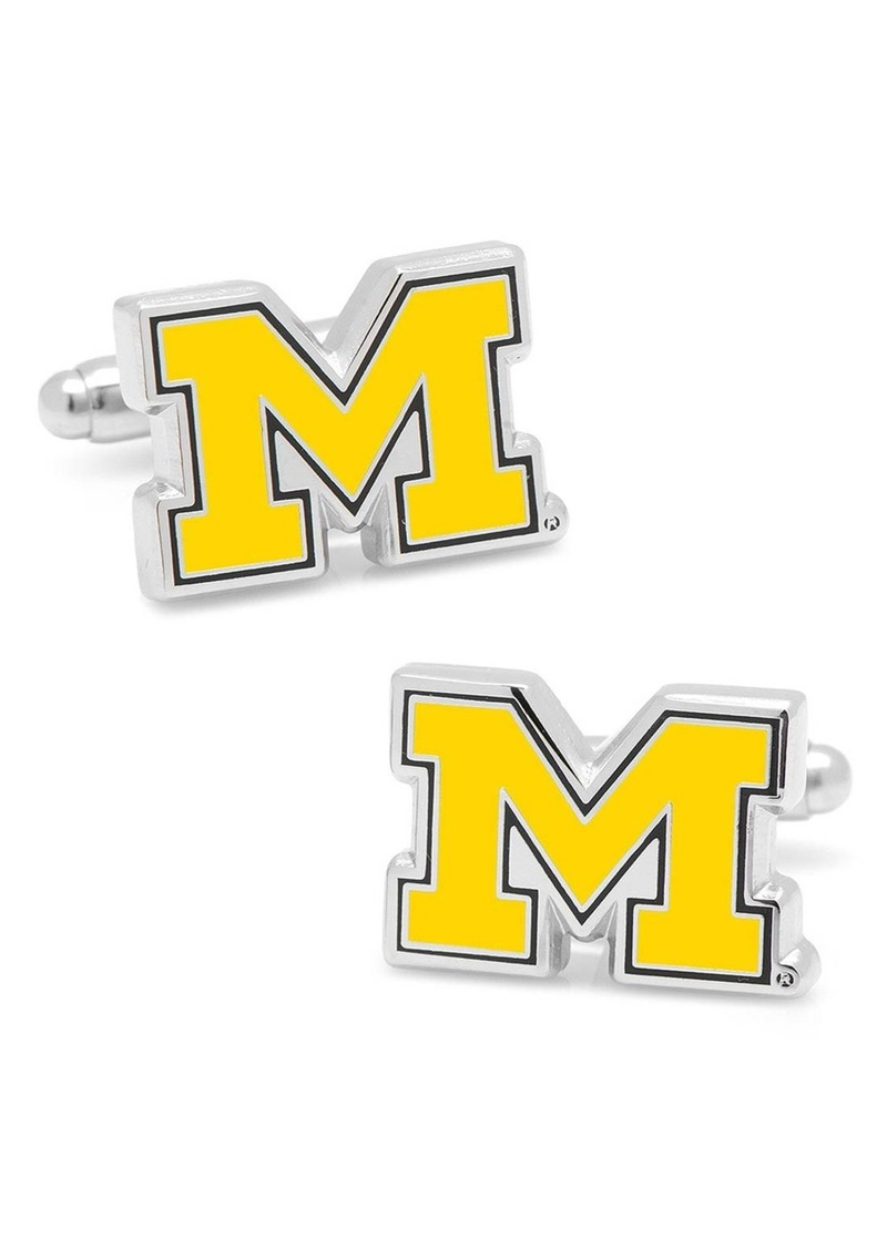 Cufflinks Inc. Cufflinks, Inc. 'Michigan Wolverines' Cuff Links