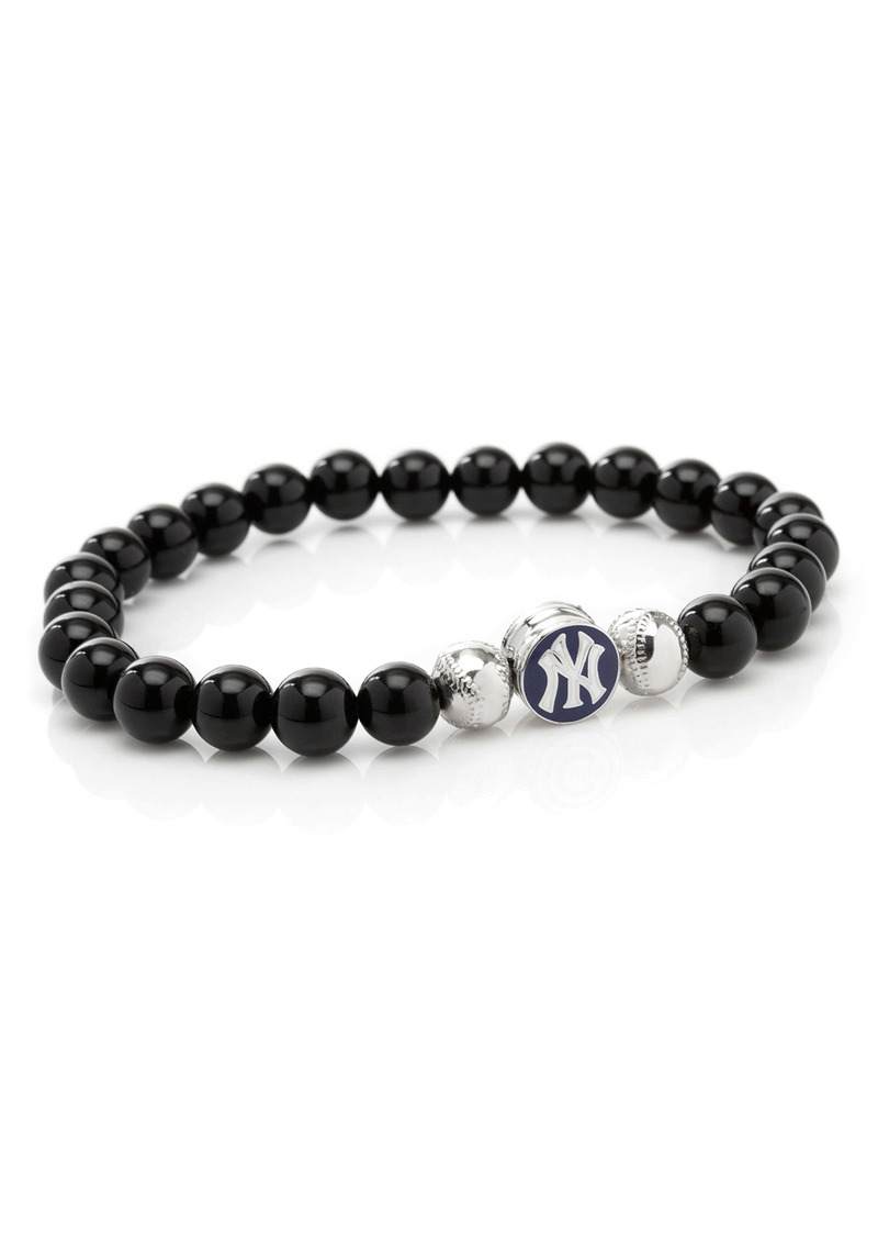 Cufflinks Inc. Cufflinks, Inc. MLB Yankees Baseball Beaded Stretch Bracelet