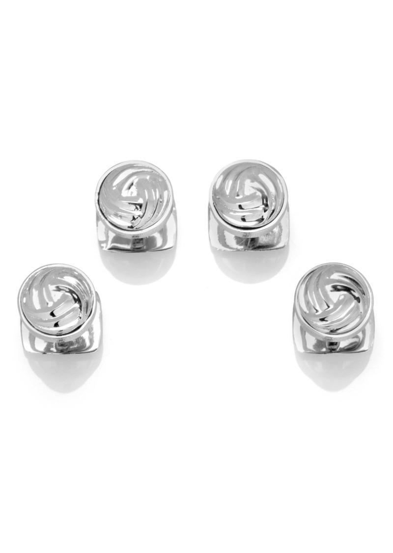 Cufflinks Inc. Cufflinks, Inc. Modern Knot Silver Shirt Studs