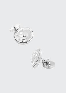 Cufflinks Inc. Modern Knot Sterling Silver Cuff Links
