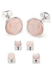 Cufflinks Inc. Cufflinks, Inc. Pink Mother-of-Pearl Cuff Links & Shirt Stud Set