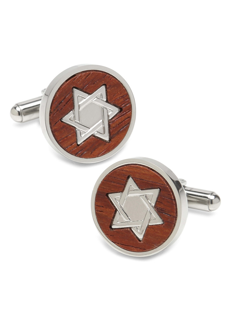 Cufflinks Inc. Cufflinks, Inc. Star Of David Wood Cuff Links