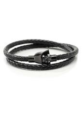 Cufflinks Inc. Cufflinks, Inc. Star Wars™ Darth Vader Braided Leather Wrap Bracelet