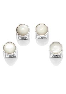 Cufflinks Inc. Cufflinks, Inc. Sterling Silver & Mother-Of-Pearl Shirt Studs