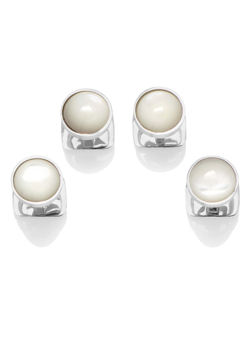 Cufflinks Inc. Cufflinks, Inc. Sterling Silver & Mother-Of-Pearl Shirt Studs