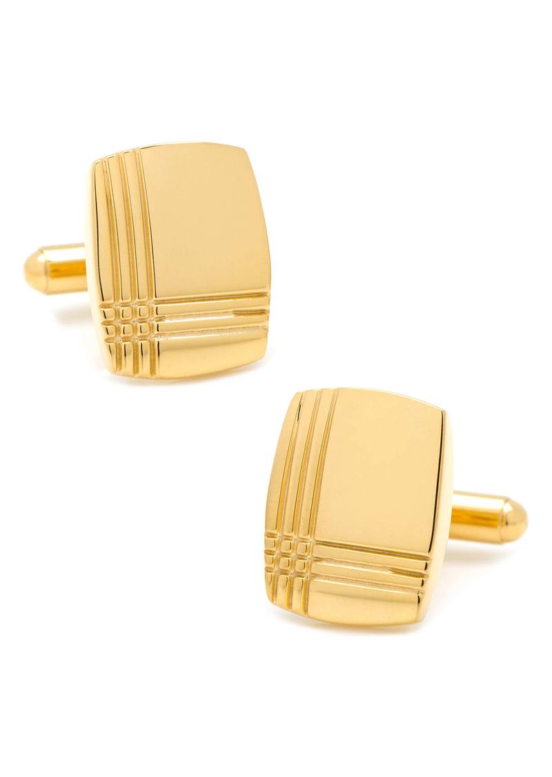 Cufflinks Inc. Cufflinks, Inc. Tartan Engraved Cuff Links