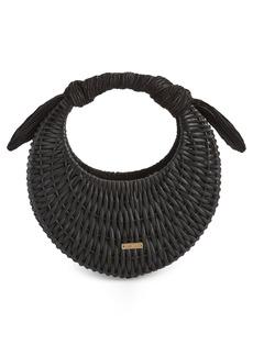 Cult Gaia Taja Mini Woven Rattan Bag