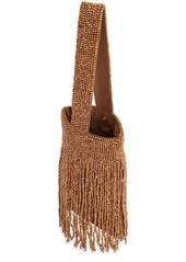 Cult Gaia Farah Wood Wristlet Bag