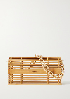 Cult Gaia Sylva Chain-embellished Bamboo Shoulder Bag