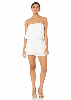 cupcakes and cashmere Women's Malibu Embroidered Gauze Romper