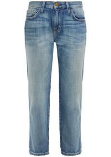 Current/elliott Woman Faded Boyfriend Jeans Light Denim