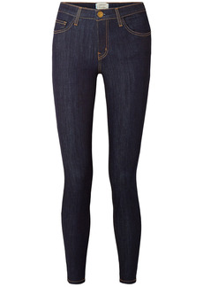 Current/elliott Woman Mid-rise Slim-leg Jeans Dark Denim
