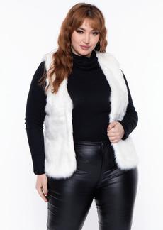 Curvy Sense Cielo Faux Fur Vest