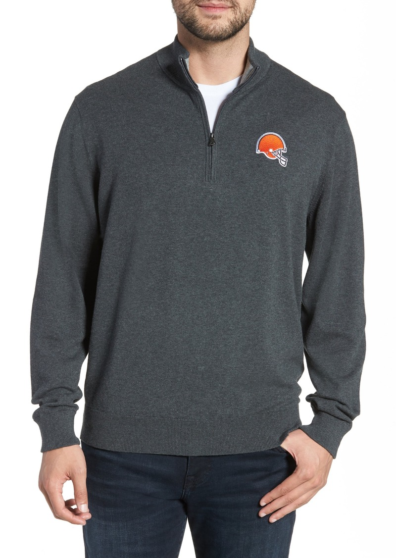 Cutter & Buck Cleveland Browns - Lakemont Regular Fit Quarter Zip Sweater
