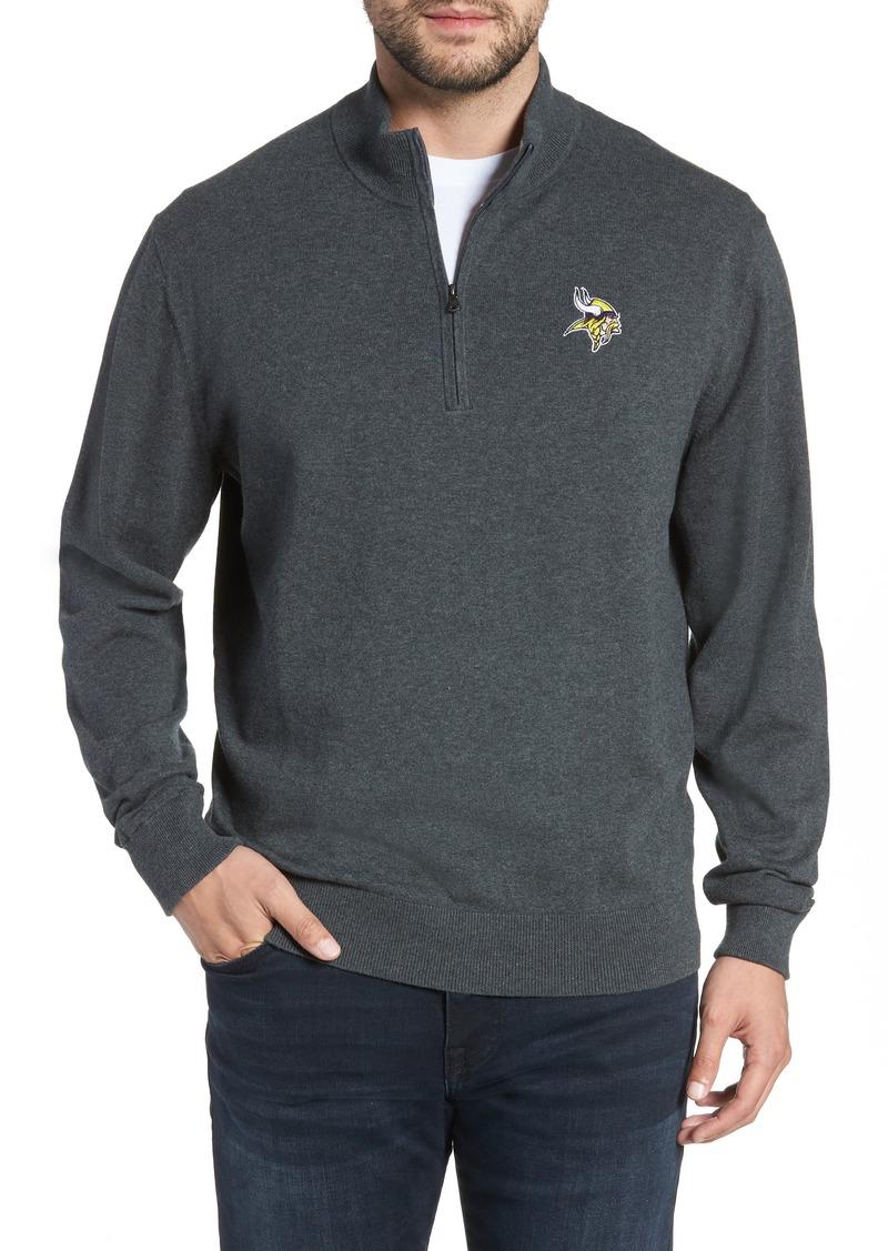 Cutter & Buck Minnesota Vikings - Lakemont Regular Fit Quarter Zip Sweater