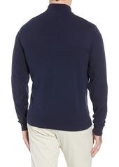 Cutter & Buck New England Patriots - Lakemont Regular Fit Quarter Zip Sweater