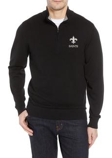 Cutter & Buck New Orleans Saints - Lakemont Regular Fit Quarter Zip Sweater
