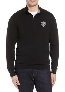 Cutter & Buck Oakland Raiders - Lakemont Regular Fit Quarter Zip Sweater