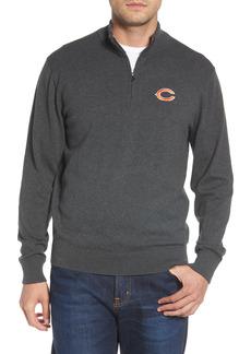 Men's Big & Tall Cutter & Buck Chicago Bears - Lakemont Regular Fit Quarter Zip Sweater