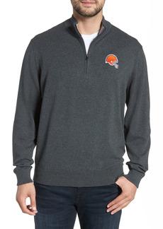 Men's Big & Tall Cutter & Buck Cleveland Browns - Lakemont Regular Fit Quarter Zip Sweater