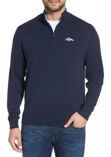 Men's Big & Tall Cutter & Buck Denver Broncos - Lakemont Regular Fit Quarter Zip Sweater
