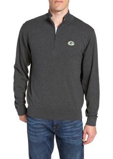 Men's Big & Tall Cutter & Buck Green Bay Packers - Lakemont Regular Fit Quarter Zip Sweater