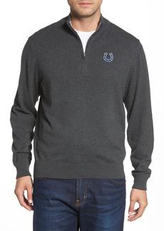 Men's Big & Tall Cutter & Buck Indianapolis Colts - Lakemont Regular Fit Quarter Zip Sweater