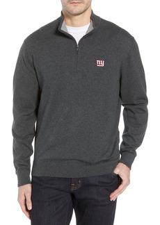 Men's Big & Tall Cutter & Buck New York Giants - Lakemont Regular Fit Quarter Zip Sweater