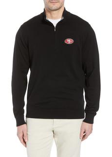 Men's Big & Tall Cutter & Buck San Francisco 49Ers - Lakemont Regular Fit Quarter Zip Sweater