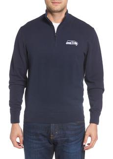 Men's Big & Tall Cutter & Buck Seattle Seahawks - Lakemont Regular Fit Quarter Zip Sweater
