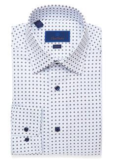 David Donahue Slim Fit Medallion Dress Shirt