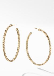 David Yurman Cable Spiral Hoop Earrings