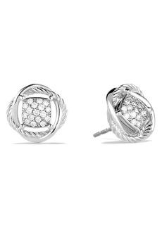David Yurman Infinity Pavé Diamond Stud Earrings