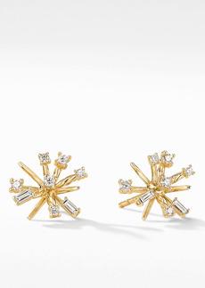 David Yurman Petite Supernova 18K Gold & Diamond Stud Earrings