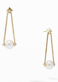 David Yurman Solari Pearl Drop Earrings with Diamonds in 18K Yellow Gold