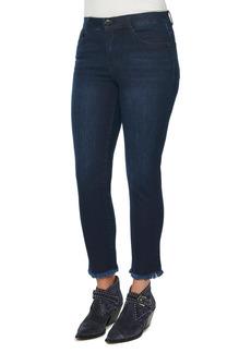Democracy AB Tech Vintage High Waist Fray Hem Skinny Jeans