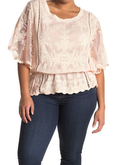 Democracy Mineral Wash Crochet Blouse