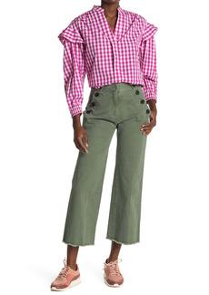 Derek Lam Bristol High Waist Slim Crop Culotte Pants